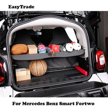 цена на Car Trunk Cargo Cover Luggage Security Shade Shield partition Rear Racks For Mercedes Benz Smart Fortwo Forfour car accessories