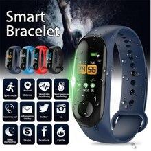 M3 pro banda inteligente à prova dwaterproof água rastreador de fitness passo contador chamada mensagem lembrete pulseira pulseira para homens