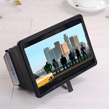 Folding Mobile Phone Screen Magnifier HD Amplifier Stand Bracket Portable Mobile Phone Video Screen Magnifier