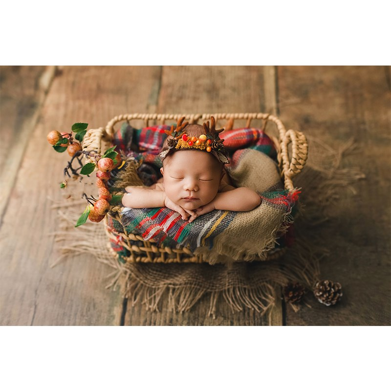 New Newborn Photography Props Woven Basket Photo Studio Auxiliary Props Baby Photo Basin Frame Shooting Station Kids Toys