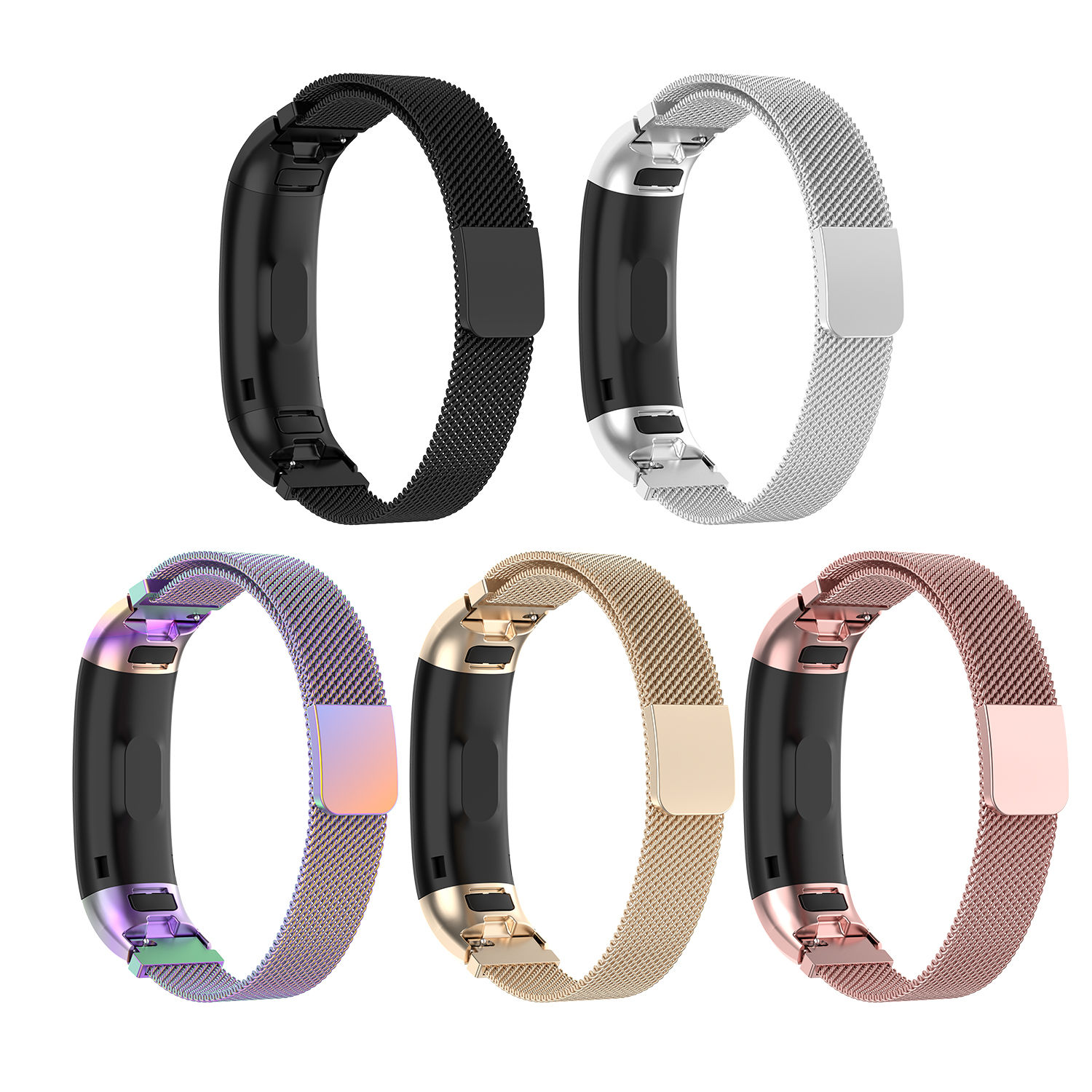 correa Wristband Bracelet Stainless Steel Wrist Strap For Huawei band 3 / band 3pro / band 4 pro watch band Magnetic Milanese