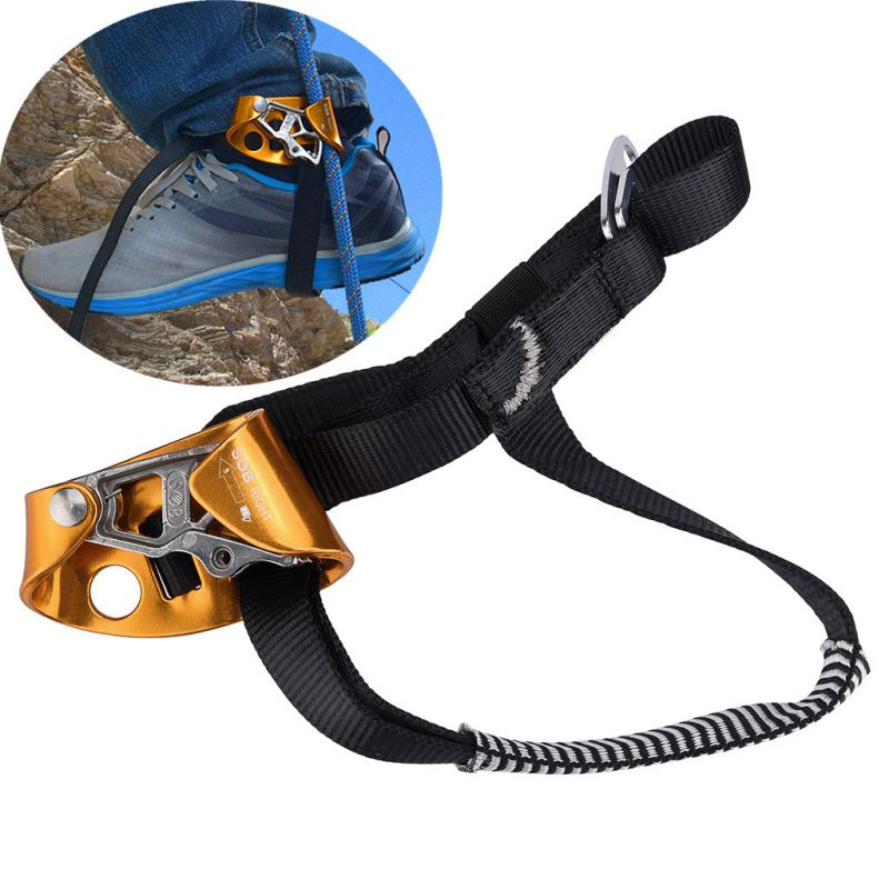 Mountaineering Pedal Riser Right / Left  Safety Ascender Foot Loop With Belt Rope Climbing Safety Protection Device Accessories
