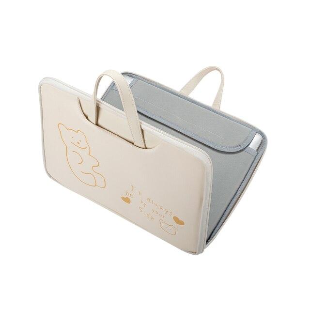 PU الكمبيوتر المحمول حقيبة حقيبة حقيبة لطيف الدب Kawaii مقاوم للماء الأخضر الأرض 13.3 14 15 بوصة لماك بوك سامسونج هواوي HP ديل
