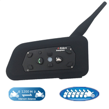 Новинка 1 шт R6 1200M мотоциклетный Bluetooth шлем гарнитуры интерком для 6 райдеров BT беспроводной Intercomunicador Interphone MP3