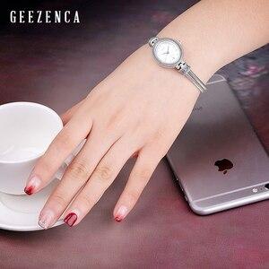 Image 2 - 925 Sterling Thai srebrny inkrustowane niebieski korund bransoletka zegarka kobiet Trendy rocznika japonia zegarek kwarcowy bransoletki biżuteria