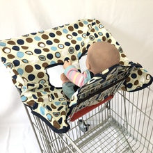 2-in-1 Shopping Cart Cover and High Chair Cover, Universal Fit, With Safety Harness Machine Washable
