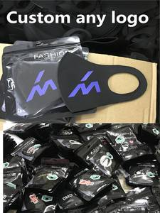 Mouth-Mask Logo Cycling Travel Washable Custom-Made Black Cotton 10pcs with Anti-Dust
