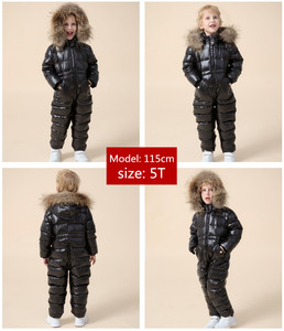 Image 5 - degree Russian winter childrens clothing down jacket boys outerwear coats , thicken Waterproof snowsuits  Girls  Clothing