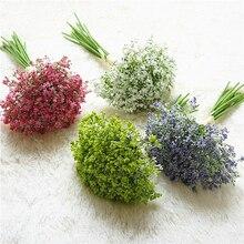 цены 1 set gypsophila artificial flower Plastic and Foam flowers table decorations wedding valentine bulk fake flowers