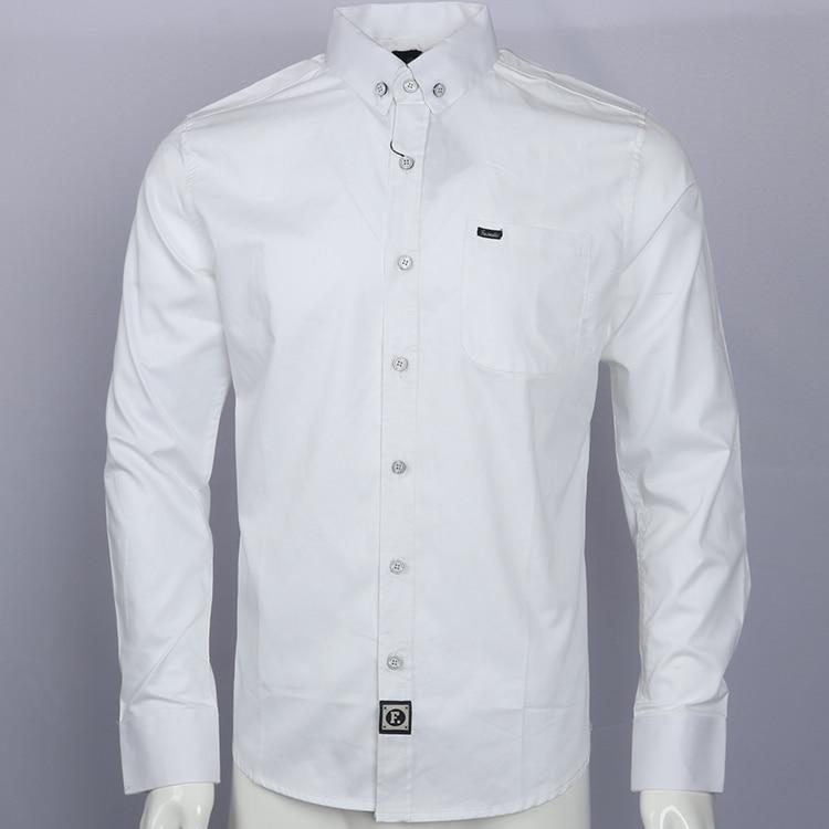 Embroidery Shirt Camisa Masculina Men Long Sleeve Dress Shirts Cotton  Social Hombre Eden  Faconnable Chemises Shirt Men Park
