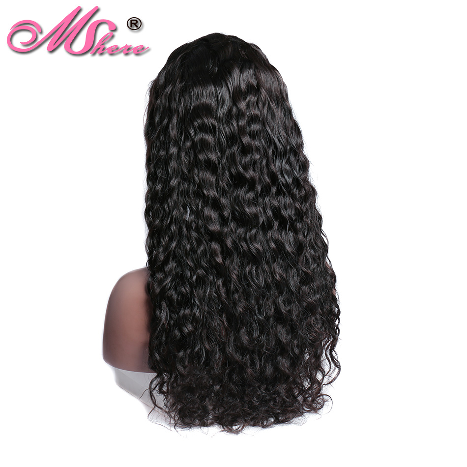 Mshere Water Wave Lace Front Human Hair Wigs Brazilian 13x4 Lace Front Wig With Baby Hair Pre Plucked 150% Lace Frontal Remy Wig