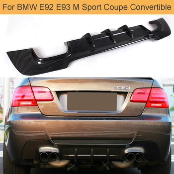 Carbon Fiber Car Rear Bumper Diffuser Lip for BMW 3 Series E92 E93 M Sport Coupe Convertible 07-13 335i Rear Bumper Diffuser Lip image