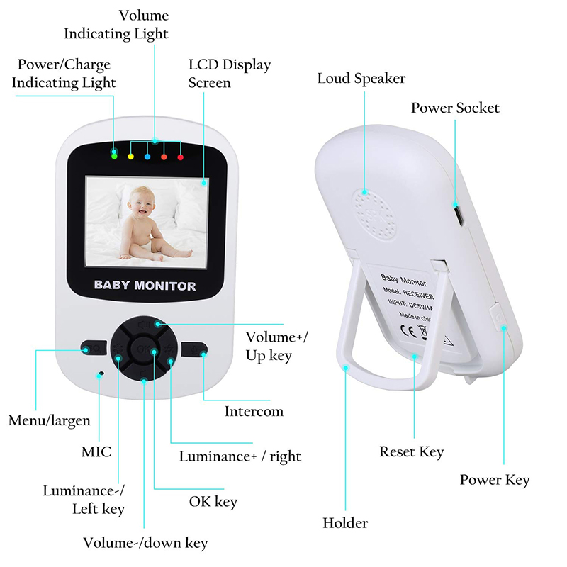 Image 4 - Neng Wireless 2.8inch Lcd Audio Video Baby Monitor Radio Nanny Music Intercom  24H Portable Baby Camera Baby Walkie Babysitter-in Baby Monitors from Security & Protection