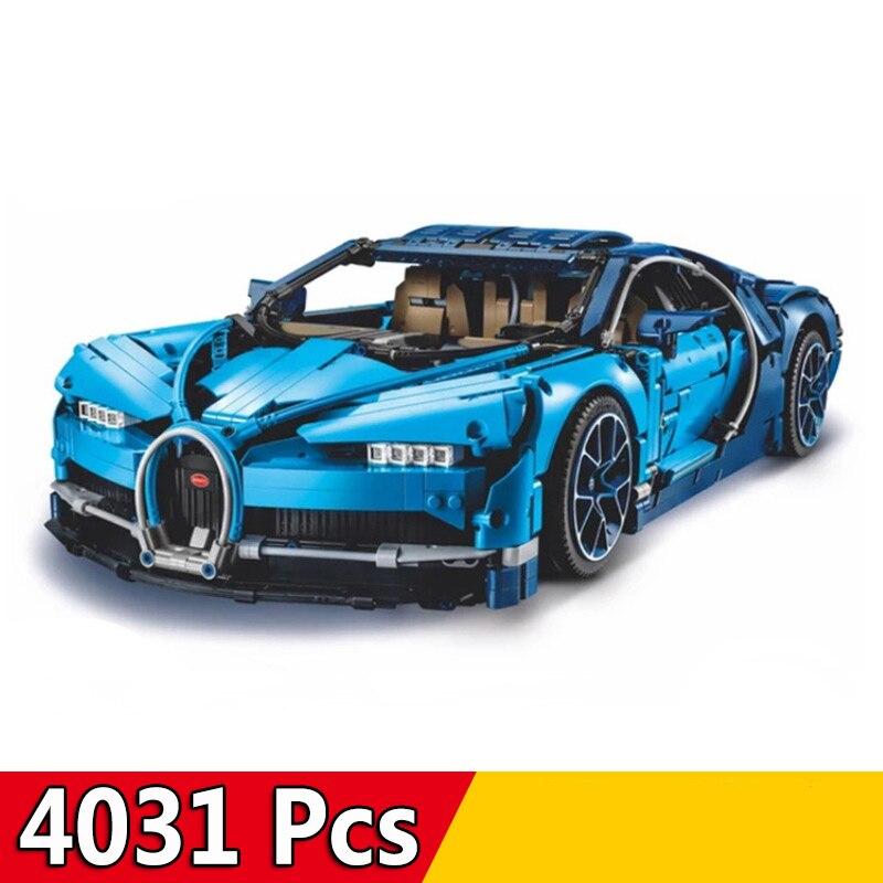 DHL 20086 90056 4031Pcs Technic Car Series Supercar Bugatti Chiron Model Building Blocks Compatible Legoings 42083 Toys Bricks