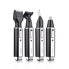 Rechargeable Clipper Beard Razor Eyebrow-Shaver Ear-Hair-Trimmer Electric Kemei Nose