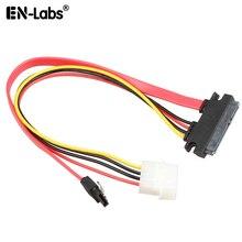 70CM 6 Gb/s SATA3 15pin do SATA 7pin + ide molex 4Pin kabel zasilania/transmisji danych do komputera SATA 3.0 SATAIII 6gbps dysk twardy, SSD