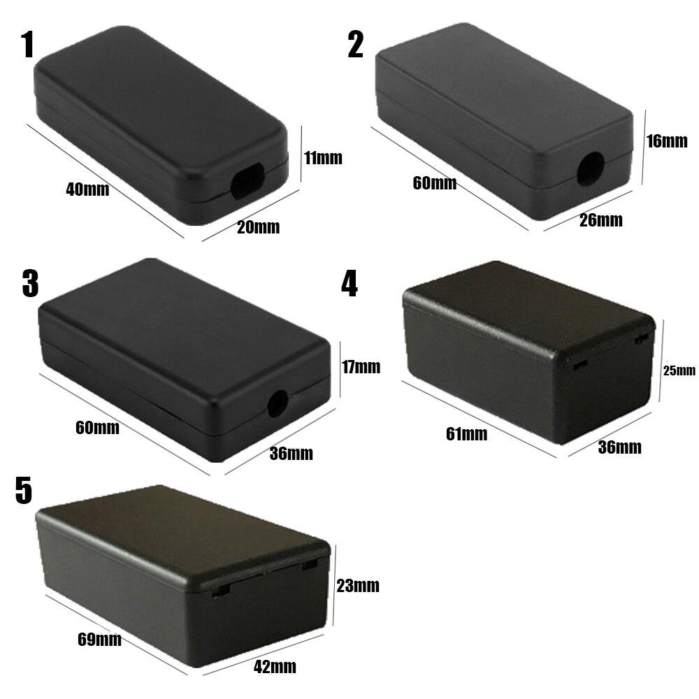 2 шт. высококачественный пластиковый водонепроницаемый черный ящик DIY корпус чехол для инструментов пластиковый электронный ящик для проекта электрические принадлежности