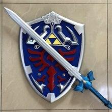 1:1 jogo cosplay skyward escudo de espada 2 pçs/set, arma de ligação, segurança pu material de crianças, presente