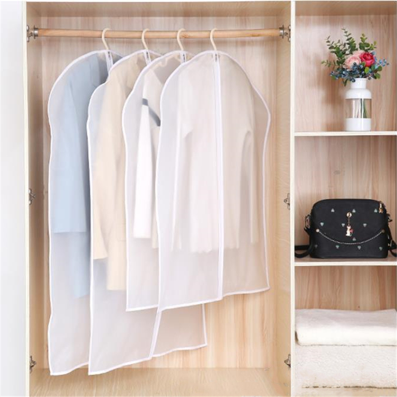 1PC Clothing Cover Dust Proof Cover For Home Use Garment Jacket Dress Suit Coat Storage Bag Wardrobe Hanging Dust Cover