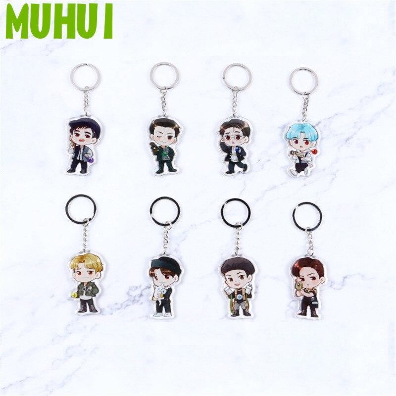 Бесплатная доставка 2019 Kpop EXO EXO-K EXO-M сумка для ключей брелок Kai DO SUHO мультфильм Q Style брелок ювелирные изделия для автомобиля B098
