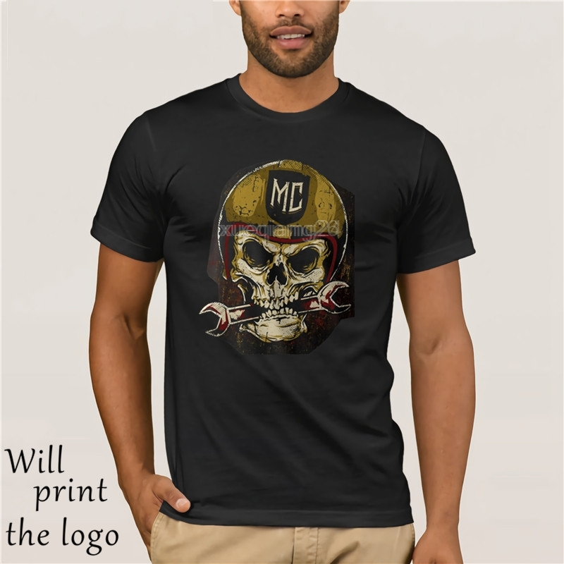 Fashion Cool Casual <font><b>t</b></font>-<font><b>shirts</b></font> BIKER <font><b>T</b></font>-<font><b>Shirt</b></font>-skull-motorcycle Totenkopf <font><b>MC</b></font> S M L XL XXL 3XL 4XL 5XL summer <font><b>t</b></font> <font><b>shirt</b></font> image