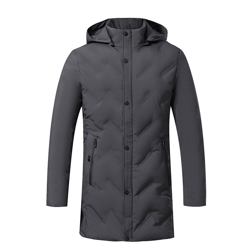 New Men's Winter Jacket Men Cotton Padded Middle-Aged Thick Windproof Warm High Quality Cotton Long Coat Parkas