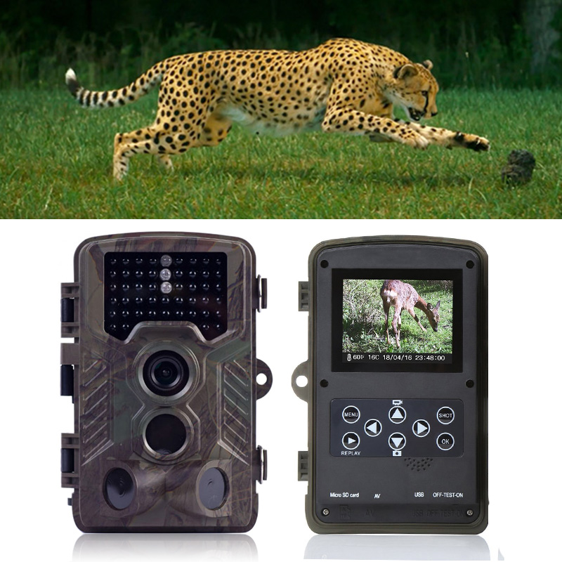 HD H801 Hunting Wildlife Camera 1080p 12mp IR LEDS Ined Night Vision 20m 0.5s Infrared Trail & Game Scouting Camera Hunting Cameras     - title=