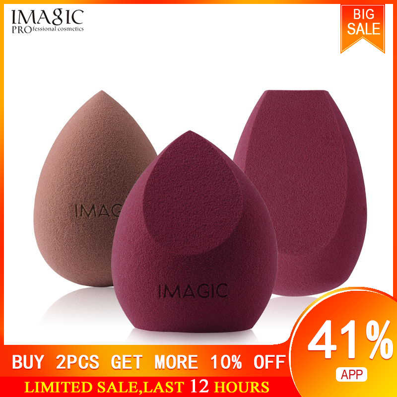 Imagic Make Mixer Zacht Water Spons Bladerdeeg Professionele Make-Up Puff Spons Voor Foundation Cream Concealer 3 Pack