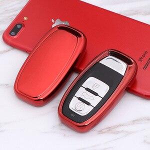 Car TPU Remote Smart Key Cover Fob Case Shell For Audi A1 A3 A4 A5 A6 A7 A8 Quattro Q3 Q5 Q7 2009 2010 2011 2012 2013 2014 2015(China)