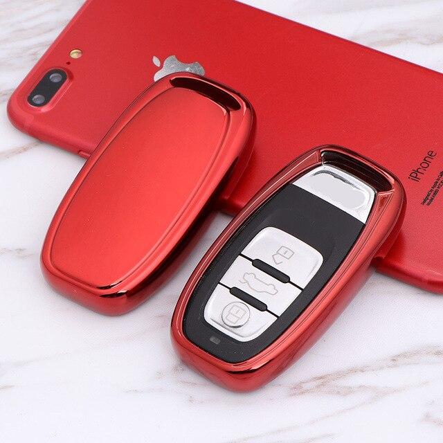 سيارة TPU البعيد مفتاح ذكي غطاء فوب حالة قذيفة لأودي A1 A3 A4 A5 A6 A7 A8 كواترو Q3 Q5 Q7 2009 2010 2011 2012 2013 2014 2015