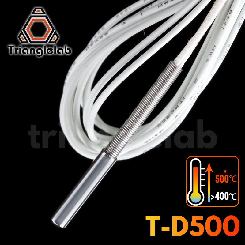 Trianglelab T-D500 Temperature Sensor 500        high temperature 3D printing for volcano E3D V6 HOTEND PEI PEEK Nylon carbon fiber