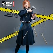 HSIU – jupe d'uniforme scolaire japonais, vêtements de Cosplay, Anime Jujutsu Kaisen, Nobara kukisaki
