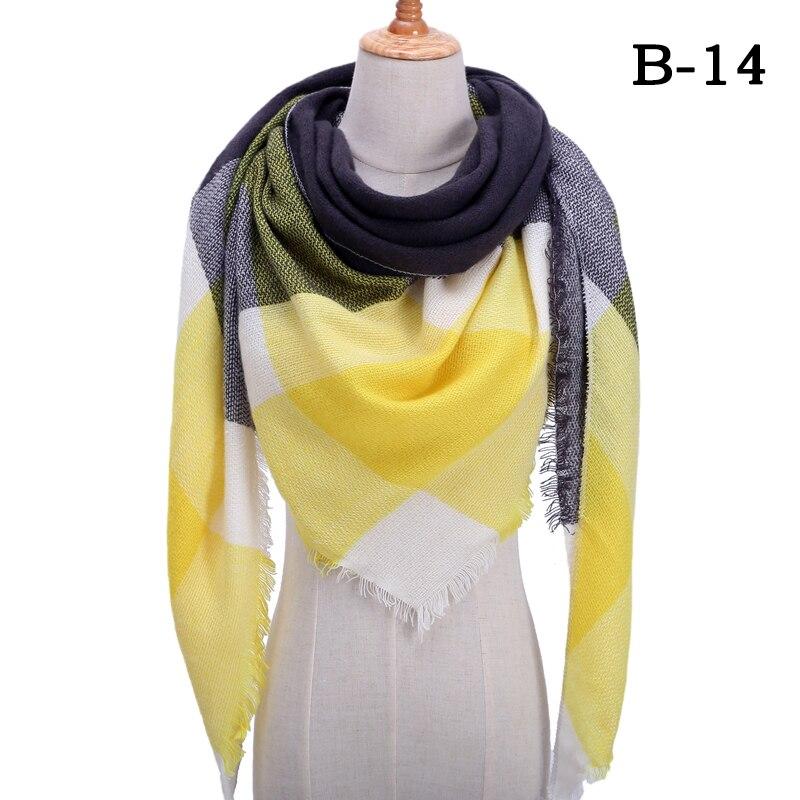 Женский зимний шарф в ретро стиле, кашемировые вязаные пашмины шали, женские мягкие треугольные шарфы, бандана, теплое одеяло, новинка - Цвет: bb14