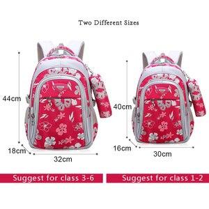 Image 4 - Floral Girls Backpacks School Bags For Girls Set children school bags Childrens Backpack  Kids Backpacks school backpack