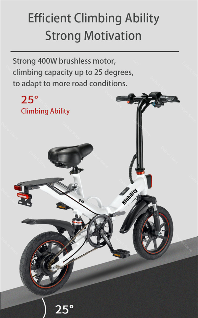 EU Stock Folding Electric bike 2 Wheels Electric Bicycles 14 Inch 400W 48V 15Ah Adult Electric Bicycle With Double Brake (13)