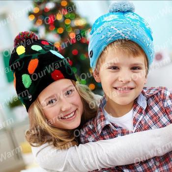 OurWarm bonnet de no l pour enfants Chandail de no l moche bonnet de no l
