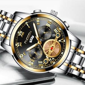 Men's Fashion Trend Tourbillon Quartz Watch Luminous Waterproof Sports Watch Steel Delt Multifunctional Non Mechanical Watch