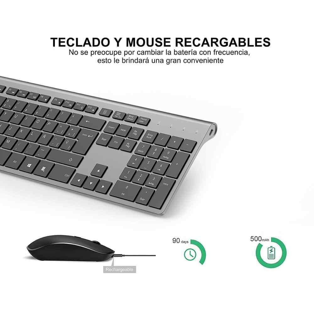 Spaanse Versie Van De Draadloze Toetsenbord En Muis Set Voor Pc, Mac Laptops, Smart Tvs, toetsenborden Ontworpen Voor Spaanse Klanten
