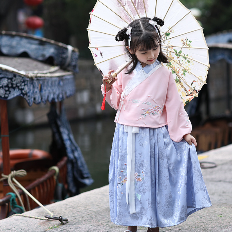 New Girls Baby Chinese Dance Costumes Fairy Dress National Costume For Child Han Tang Hanfu Chinese Traditional Tang Suit SL1213