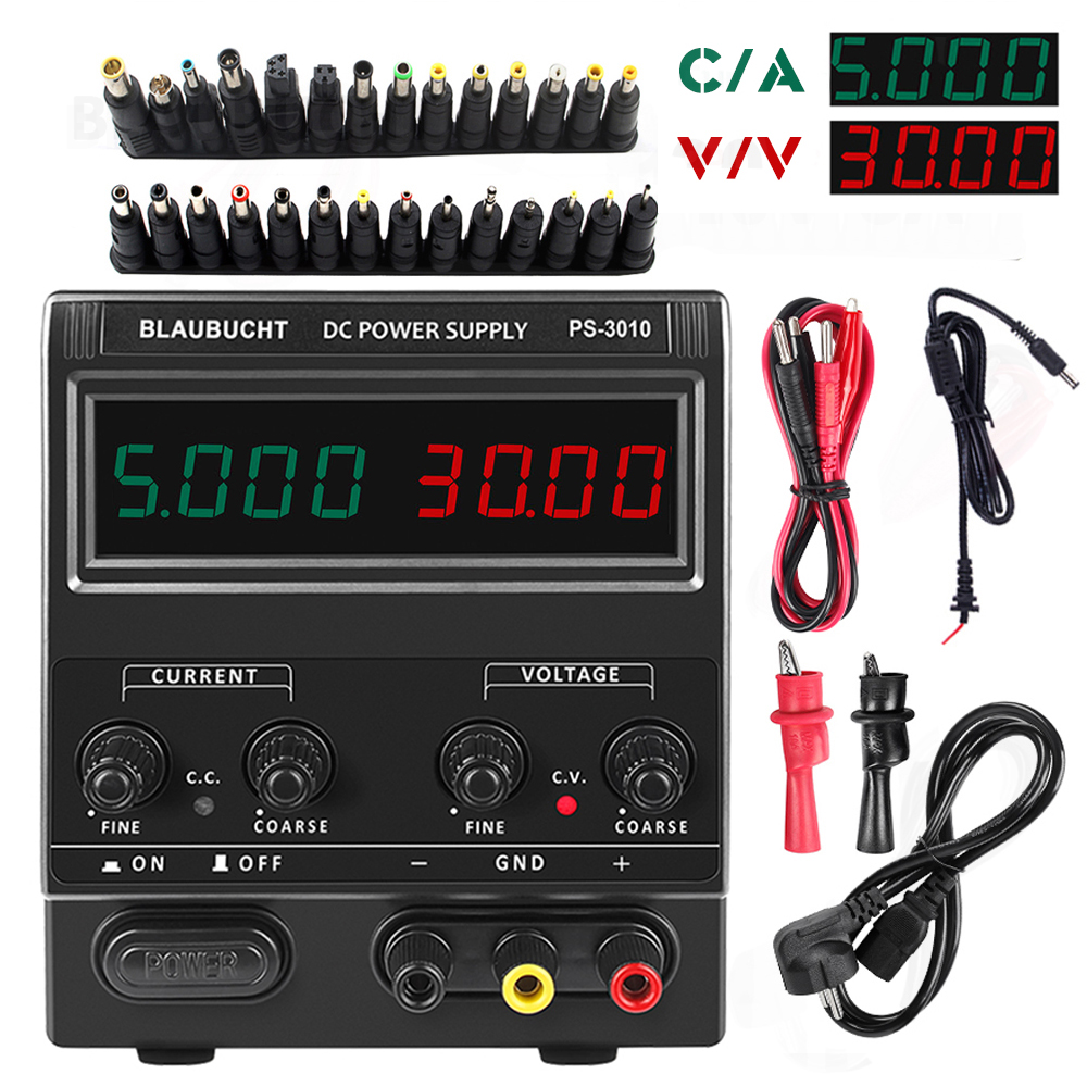 <font><b>30V</b></font> <font><b>5A</b></font> DC <font><b>Power</b></font> <font><b>Supply</b></font> <font><b>Adjustable</b></font> 4 Digit Display Mini Laboratory <font><b>Power</b></font> <font><b>Supply</b></font> Voltage Regulator PS305 For Phone Repair image