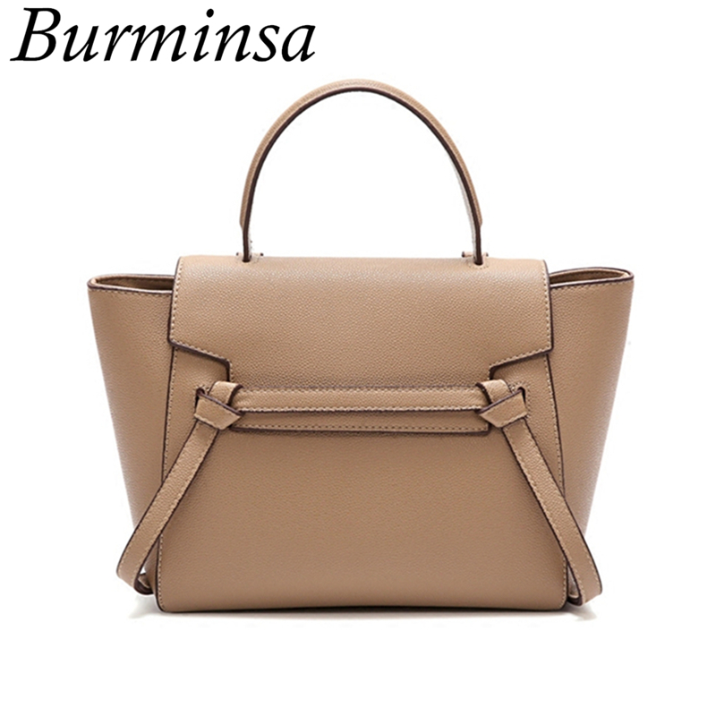 Burminsa Unique Design Trapeze Shoulder Bags For Women Large Capacity Female Handbags High Quality PU Ladies Messenger Bags 2019