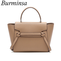 Burminsa Unique Design Trapeze Shoulder Bags For Women Large Capacity Female Handbags High Quality PU Ladies Messenger Bags 2019