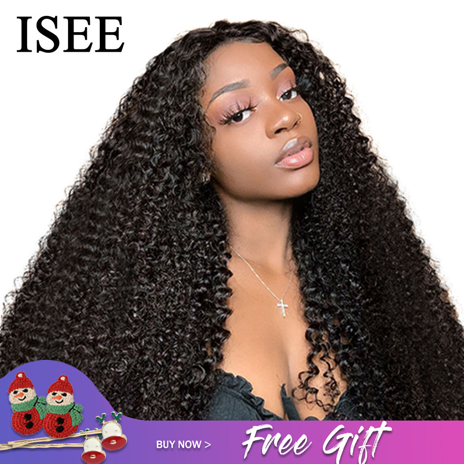 Permalink to Mongolian Kinky Curly Wigs For Women Lace Frontal ISEE HAIR Curly Lace Closure Wig 180% Density Curly Lace Front Human Hair Wigs