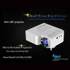 Led-Projector Miniature Portable UC28B 1080P HD for Home-Theater Entertainment