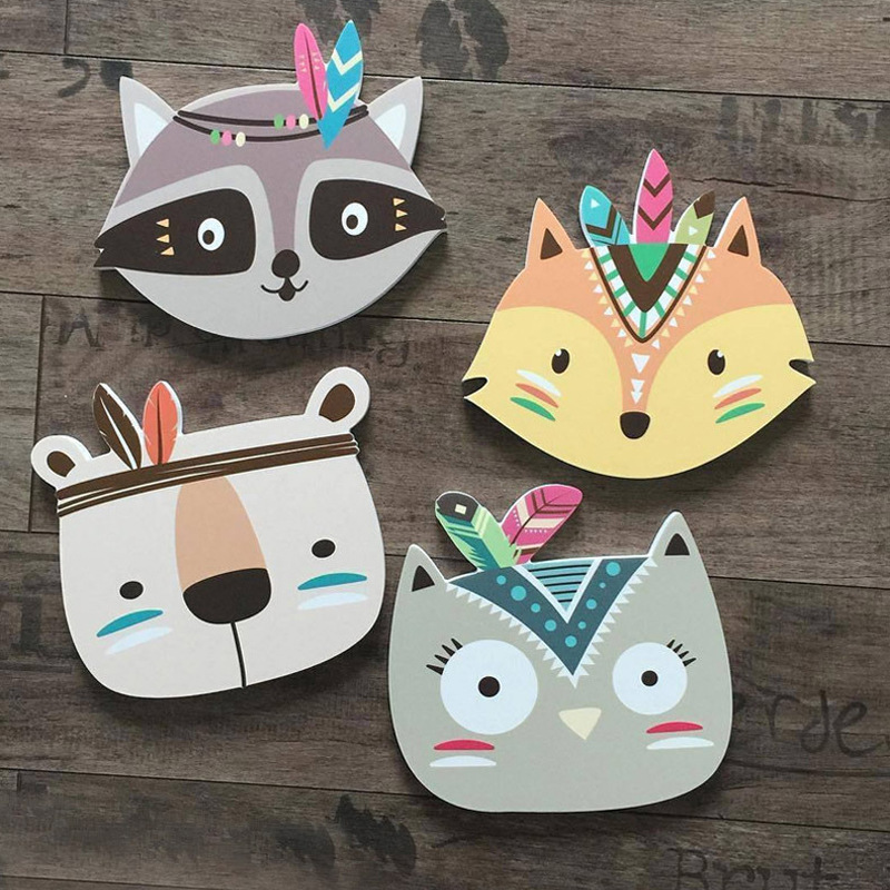 21cm*20cm Ins Hot Nodic Cartoon Animals Fox Newborn Baby The Crib Infant Room Decor Photography Props Baby Bedroom Decoration