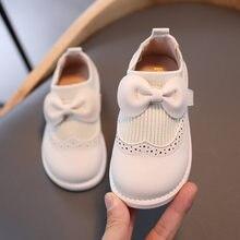 Chaussures pour bébé et enfant fille, avec nœud papillon, en cuir,petit mocassin nouveau style de 2020 à semelle souple, petites, adaptées à un bambin ou une princesse, E31,