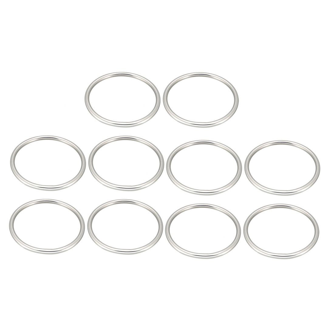 Uxcell 10 Pcs Multi-Purpose Metal O Ring Buckle Welded 92mm X 80mm X 6mm For Hardware Bags Ring Hand DIY Accessories