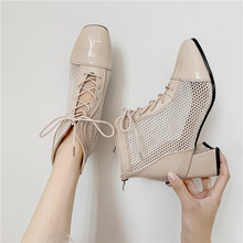 лучшая цена Early Summer With High Leisure With Cool Breathable Mesh For Comfortable Fashion Martin Leather Women's Shoes35