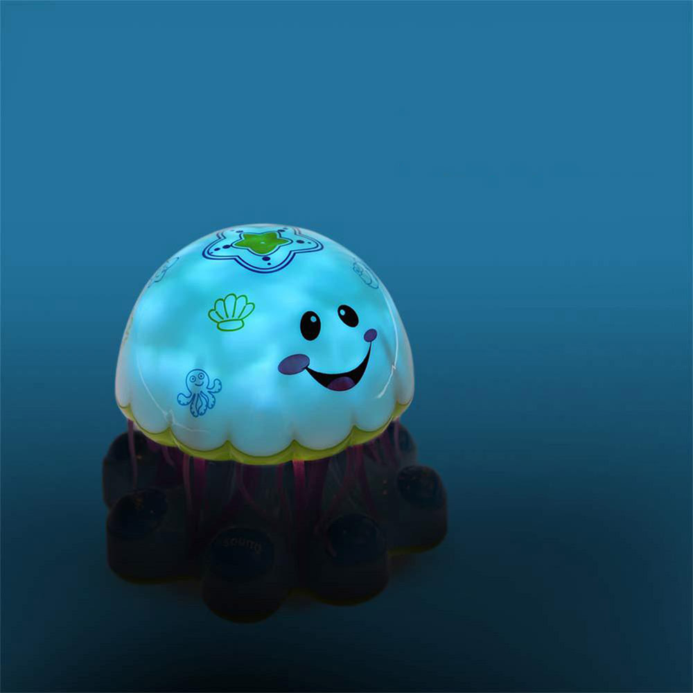 Baby Infant Electronic Jellyfish Shape Light Music Story Telling Educational Toy Intelligent Robot with Universal Wheel Kid Toy