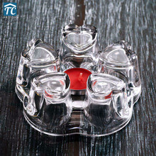 Candle Teapot Warmer Coffee-Water-Scented Trivet Heart-Heating-Base Heat-Resisting Glass
